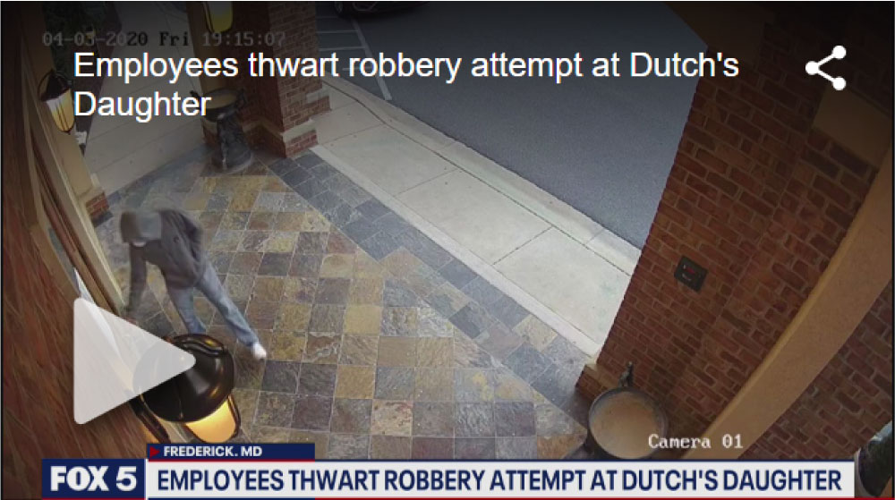 Dutch's Daughter Employee Thwarts Robbery Attempt